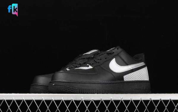 Cheap Sale Nike Air Force 1 07 3M Black White is Available Now