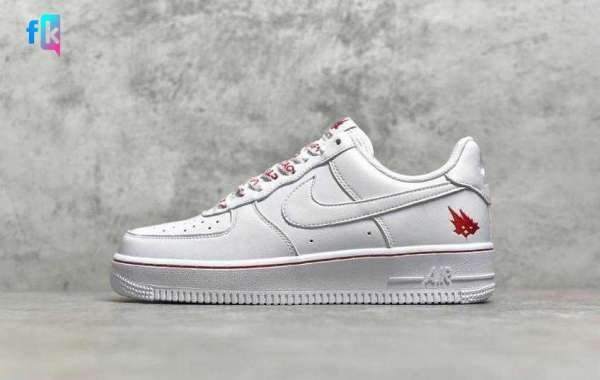 Buy Best Price Nike Air Force 1 TS Cloud White University Red Shoes