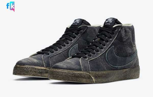 """Nike SB Blazer Mid """"Faded Black"""" DA1839-001 is available on March 13"""