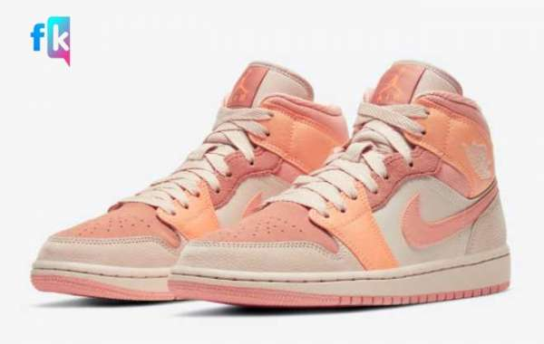"Latest Air Jordan 1 Mid ""Apricot Orange"" Sneakers For Sale DH4270-800"