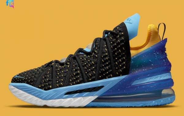 Minneapolis and Los Angeles collide on these Nike LeBron 18 CW2760-006