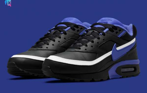 """The original Nike Air Max BW """"Persian Violet"""" is remade with """"black"""" leather"""
