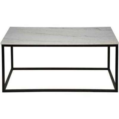 Manning Coffee Table in Black Metal w/ Quartz Top Profile Picture