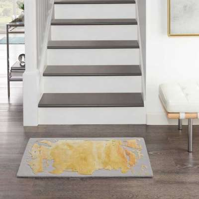 Prismatic Tufted Grey / Gold Rug Profile Picture